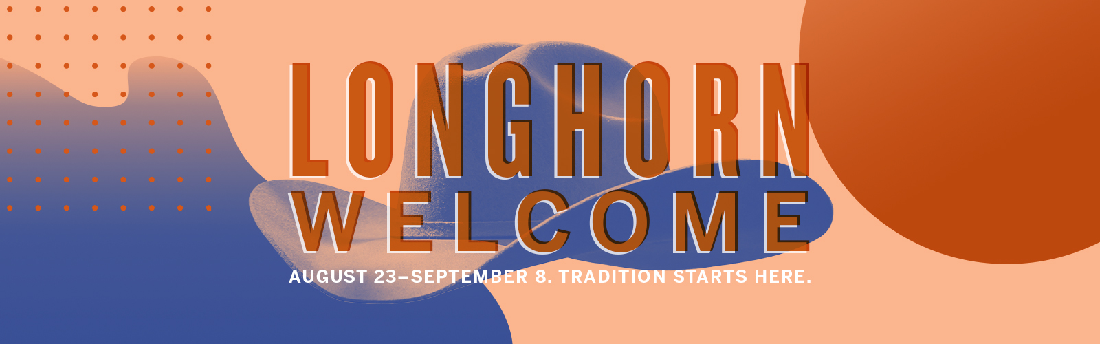2019 Longhorn Welcome Logo with cowboy hat